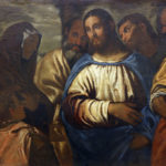 Old painting of Christ And Wife Of Zebedee