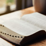 Picture of Open Bible with light coming in through window